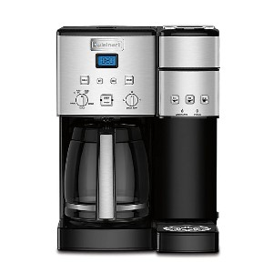 Cuisinart Coffee Center™ Coffee Maker/Single Serve Brewer - Best Coffee Machine for Home: Single Serve Side Features Removable Drip Tray for Larger Cups