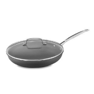 Cuisinart Classic Nonstick Hard-Anodized 12-Inch Skillet - Best Non Stick Frying Pan with Lid: Sturdy frying pan