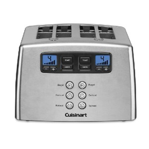Cuisinart Touch to Toast Leverless 4-Slice Toaster - Best Toaster for Bread: 4 Wide Slots Toaster