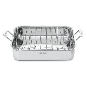 Cuisinart Chef's Classic Stainless 16-Inch Rectangular Roaster - Best Roasting Pan for Chicken: Professional Stainless Exterior