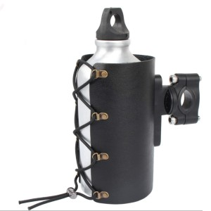 Lingdu Cup Holder Motorcycle PU Leather - Best Motorcycle Drink Holders: Portable and Practical Design