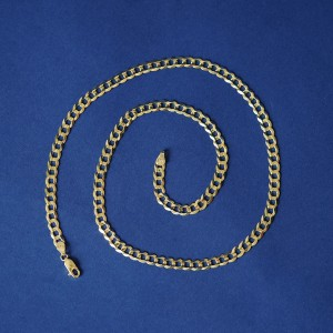Automic Gold Curb Chain - Best Jewelry for Plus Size: Pure gold