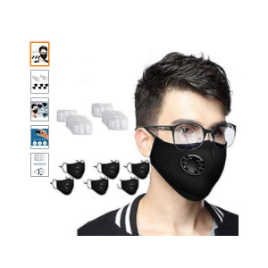D 6+13 Cotton Outdoor Fashion - Best Masks for Glasses Wearers: Soft Cotton and Suitable For Every Face Size