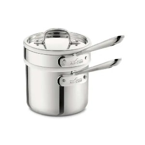 All-Clad 3-ply Bonded Cookware - Best Porcelain Pots and Pans: Best for liquid dishes