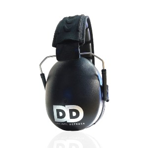 DECIBEL DEFENSE Professional Safety Ear Muffs - Best Shooting Hearing Protection: Low Level Noise for Better Comfort