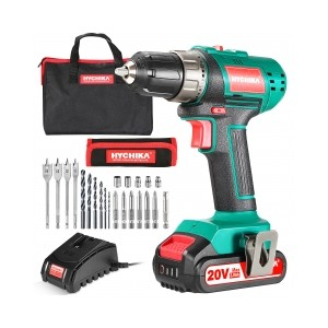HYCHIKA DD18F - Best Drill Cordless: Doubles Speed for Wide Applications