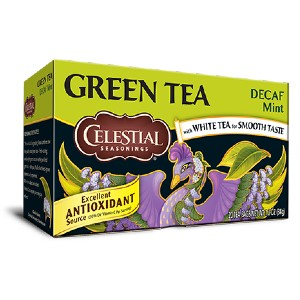 Celestial Seasonings Decaf Mint Green Tea - Best Tea for Weight Loss: Decaffeinated Green Tea and Delicate Decaf White Tea