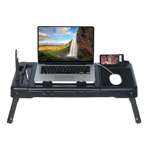 DG Sports  Laptop Table Stand with Repositionable LED Light - Best Laptop Stand for Bed: Gives You More Room to Work