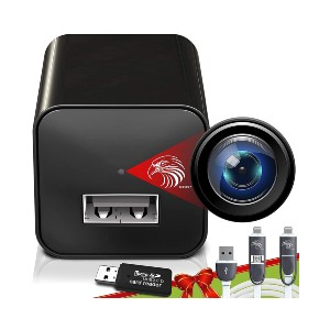 DIVINEEAGLE Spy Camera Charger  - Best Spy Camera on Amazon: 2-in-1 Wireless Charger and Spy Camera