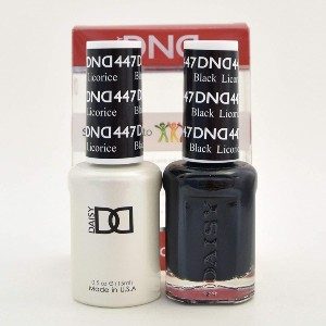 DND Duo 447 Black Licorice - Best Gel for Nails: Easy Apply Nail Gel Polish
