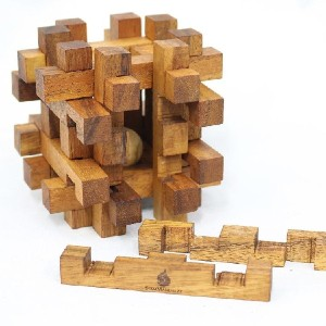 SiamMandalay DOUBLE LOCK-A-BALL - Best Wooden Puzzles: Much Bigger, and Much More Difficult