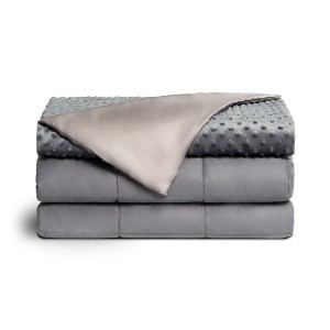 Brooklyn Bedding DUAL THERAPY WEIGHTED BLANKET - Best Weighted Blanket for Hot Sleepers: High-End Details Include 12 Individual Ties