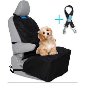 DUKE DIXIE PET + PEOPLE PLEASERS Dog Car Front Seat Cover - Best Dog Car Front Seat Covers: Front Seat Cover with Three Adjustable Buckles