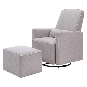 DaVinci Olive Upholstered Swivel Glider  - Best Glider Chair for Living Room: Glider with Ottoman Included