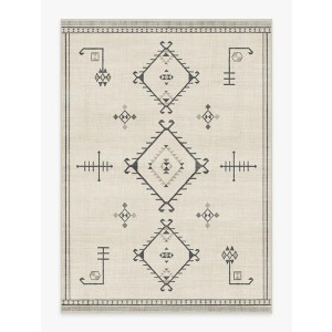 Ruggable Damali Black & White Rug - Best Rug to Have with Dogs: Timeless elegance