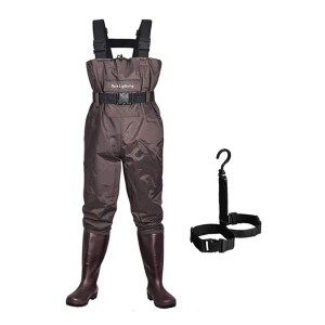 Dark Lightning Fly Fishing Waders with Boots - Best Saltwater Waders: No more leakage problems