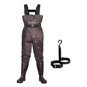 Dark Lightning Fly Fishing Waders with Boots - Best Waders for Women: No water seeping through
