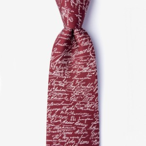 Ties Declaration Signers Red Extra Long Tie - Best Ties for Lawyers: A must-have iconic piece