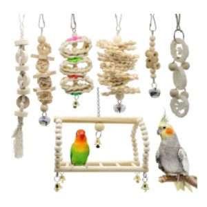 Deloky 7 Packs Bird Parrot Swing Chewing Toys - Best Bird Toys for Budgies: Visually pleasing