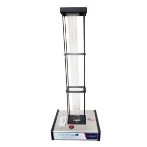 GermAwayUV 95 Watt UV-C Surface Sanitizer with Cage - Best UV-C Germicidal Lamp: Air the Room Out for 10 Minutes