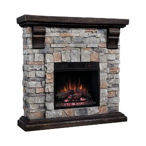 ClassicFlame Denali Stone Electric Fireplace Mantel Package - Best Electric Fireplace with Mantel: Super easy to assemble