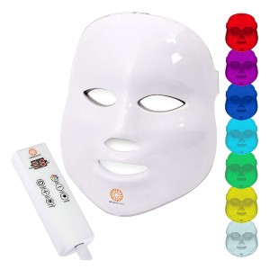 Dermashine 7 Color Wireless LED Mask for Face  - Best Light Therapy Mask for Acne: Great Built-In Timer