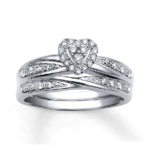 KAY Diamond Bridal Set - Best Jewelry for Engagement Ring: Tons of diamonds