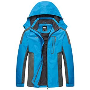 Diamond Candy Waterproof Rain Jacket - Best Raincoats for Hiking: Comes with lots of pockets!