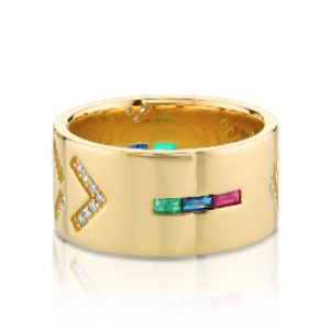 The Last Line Diamond Tattoo Wide Cigar Band - Best Jewelry for College Graduation: A conversation starter