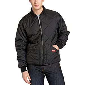 Dickies Men's Water Resistant Diamond Quilted Nylon Jacket - Best Raincoats for Work: The Quilted style rain jacket