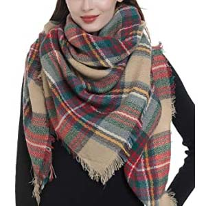 Dimore Fashion Women Blanket Scarf - Best Scarves for Winter: It won't fray