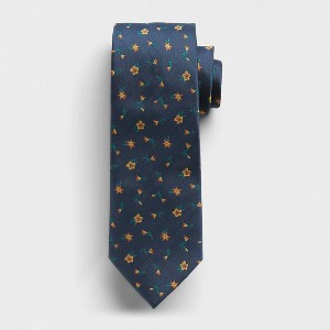 Banana Republic Factory Ditsy Floral Print Tie - Best Ties for Checkered Shirts: Anti-spill and stain