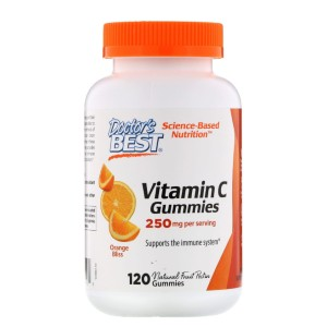 Doctor's Best Vitamin C 250 mg Orange Bliss - Best Vitamin C Gummies: Great Support for Body