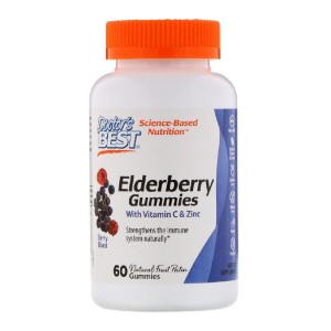 Doctor's Best Elderberry Gummies with Vitamin C & Zinc - Best Elderberry Gummies for Adults: Maintain Immunity and Dietary Supplement