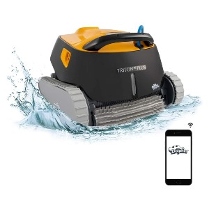 DOLPHIN Triton PS Plus WiFi Operated Robotic Pool [Vacuum] Cleaner - Best Robotic Pool Cleaner for Leaves: Convenient Pool Cleaner