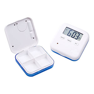 Donseen Pill Organizer,Portable Medicine Box Daily Medicine Organizer  - Best Pill Boxes with Alarm: Light in Weight and Small in Size