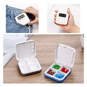 Donseen Medicine Organizer,Daily Pill Organizer with Alarm - Best Pill Boxes with Alarm: Portable Pillbox for Daily Usage