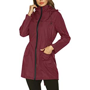 Doreyi Lightweight Raincoat for Women - Best Raincoats for Cycling: Lightweight and waterproof