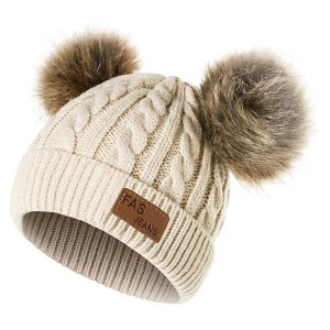 Fas Jeans Double Ball Beanie - Best Beanies for Babies: Perfect Winter Accessory