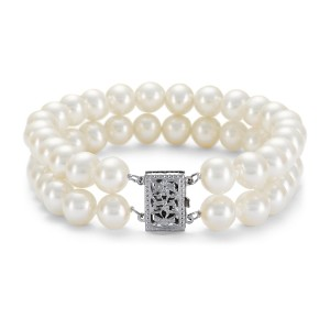 Blue Nile Double-Strand Freshwater Cultured Pearl Bracelet - Best Jewelry for 18th Birthday: Super secure clasp