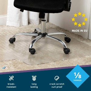 DoubleCheck Products Office Chair Mat - Best Office Chair Mats for Carpet: Affordable Glass-Like Mat