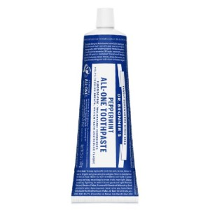 Dr. Bronner's All-One Organic Peppermint Toothpaste  - Best Toothpaste without Fluoride: 70% organic ingredients