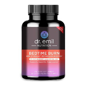 Dr. Emil Nutrition Bedtime Burn - Best Appetite Suppressants on Amazon: Doctor-Formulated Weight Loss Supplement