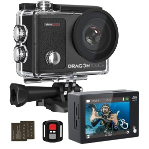Dragon Touch  Vision 3 Pro - Best GoPro for Motorcycle: Adjustable Angle Lens