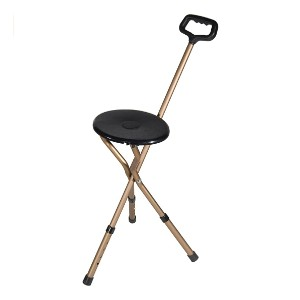 Drive Medical Adjustable Height Cane Seat - Best Cane for Arthritic Knees: Best multifunctional pick