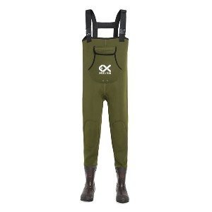 Duck & Fish Green Chest Wader - Best Chest Waders for Duck Hunting: Nice double-layer knee pad