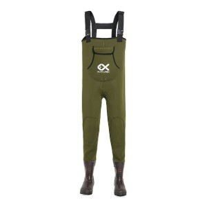 Duck & Fish Green Neoprene 200G Thinsulate Wader - Best Waders for Duck Hunting: Nice double-layer knee pad