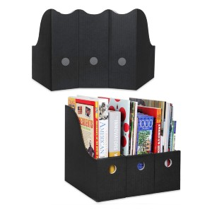 Dunwell Black Magazine File Holder - Best Magazine Storage: Simple but durable
