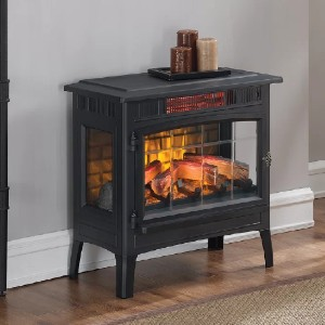 Duraflame Electric 3D Flame Effect Infrared Quartz Electric Stove - Best Space Heaters Infrared: Attractive heater with flame effect