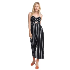 ASTR Dylan Striped Cutout Jumpsuit - Best Jumpsuits for Petites: Elongating effect